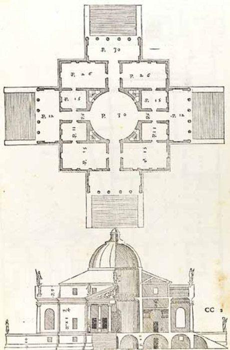 Четыре книги об архитектуре (Андреа Палладио, 1570)    Четыре книги об архитектуре Андреа Палладио.   Труд Андреа Палладио, в котором описываются схемы постройки городских зданий, были названы «квинтэссенцией спокойствия и гармонии в архитектуре эпохи Возрождения».