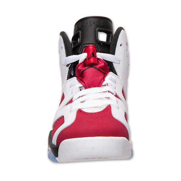Boys' Grade School Air Jordan Retro 6 Basketball Shoes ($50) ❤ liked on