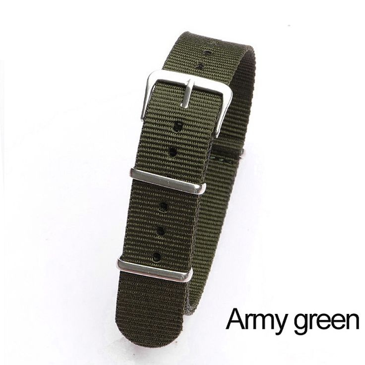 >> Click to Buy << Retail 18mm Army green Sport nato fabric watch band straps accessories Bands nylon watchband steel Buckle belt  #Affiliate