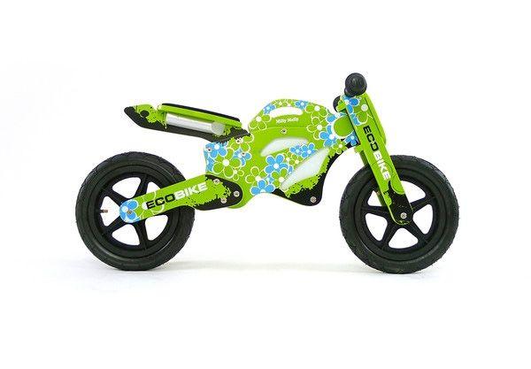 Drewniany rowerek, idealny do nauki jazdy. Dodatkowo wygląda jak mały motocykl :) #supermisiopl #rowerki #Milly_Mally