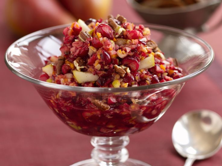 Cranberry-Pear Relish recipe from Food Network Kitchen via Food Network