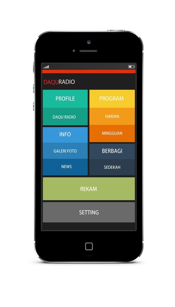 Aplikasi DaQu Radio - Aplikasi yang mempermudah pendengar DaQu Radio dengan fitur rekam program siaran yang sedang berlangsung.