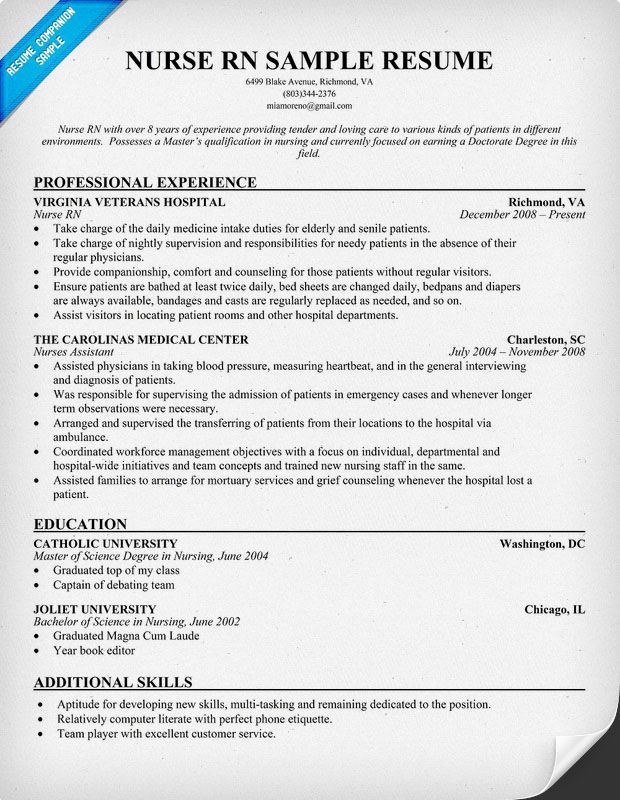 7+ Nursing Curriculum Vitae Templates – Sample, Example