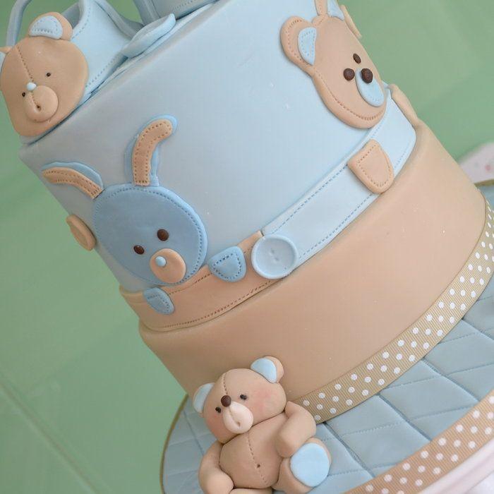Boy's christening cake