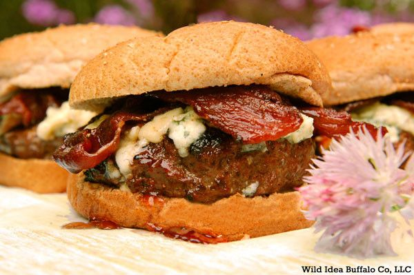 Red, White and Blue Bison Burgers ~ Summer is almost over but there ...