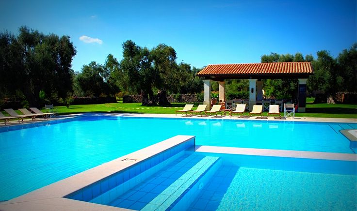 The huge and inviting outdoor swimming pool