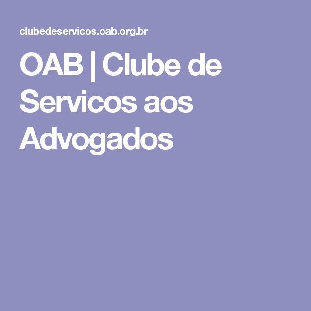 OAB   Clube de Servicos aos Advogados