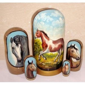 Horses Spotty #russiandolls #diy #babushka #matroyshka #handmade #unique #animals #wildlife