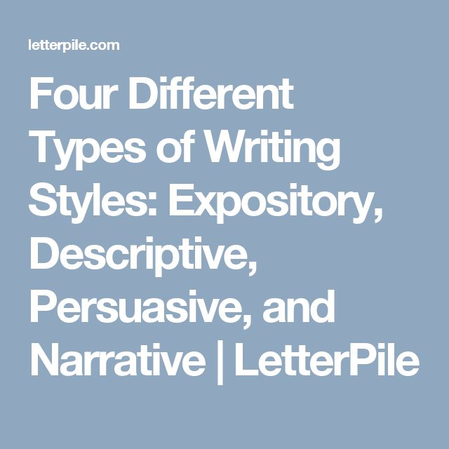 Four Different Types of Writing Styles: Expository, Descriptive, Persuasive, and Narrative | LetterPile