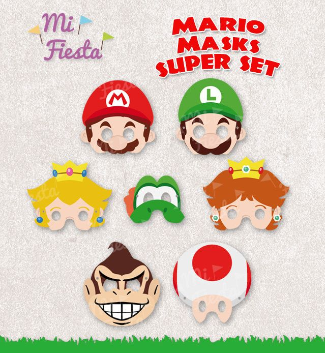 Mascaras Mario bros
