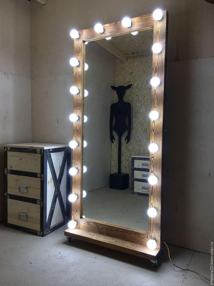Купить Гримерное зеркало PROVINCIAL 180/80 - коричневый, купить зеркало, зеркало напольное, зеркало большое