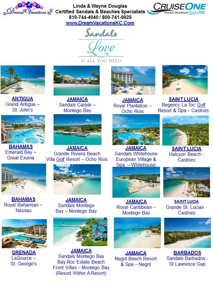 10 best images about sandals love is all you need on for Top rated destination wedding locations
