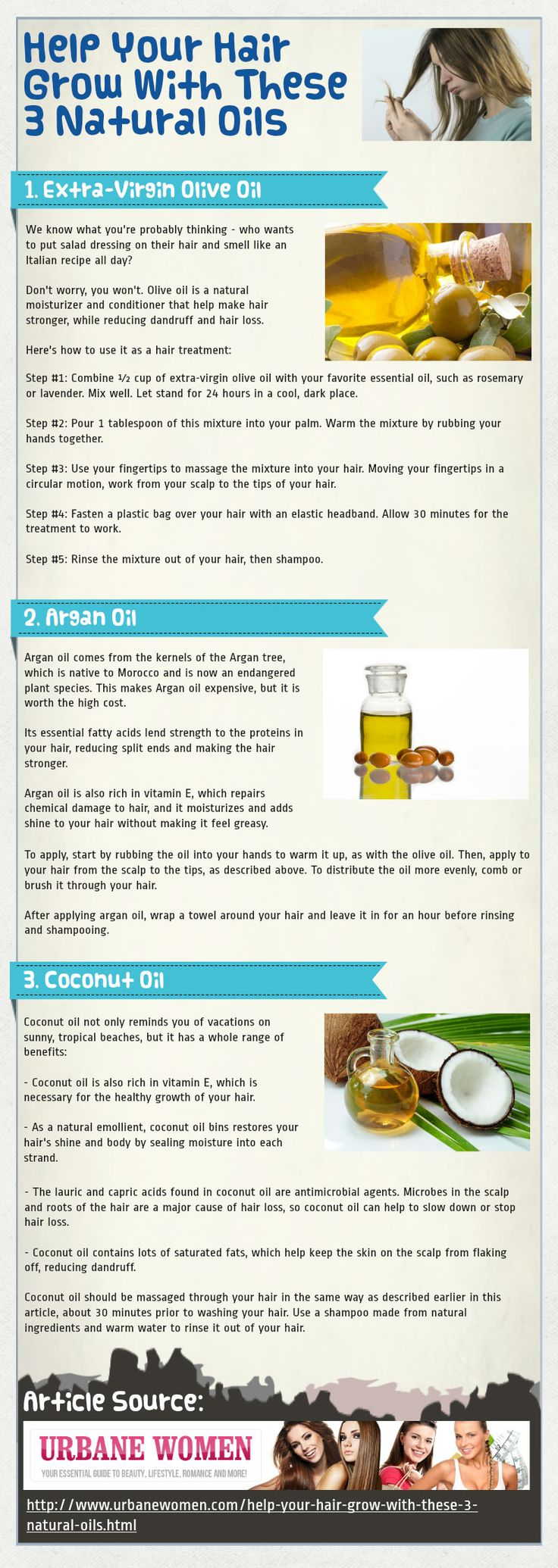 How to Make Your Hair Grow Faster and Longer with These 3 Natural Hair Oil...
