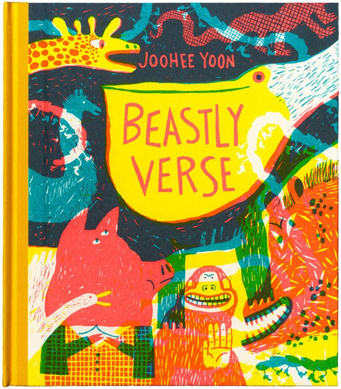 Front cover for 'Beastly Verse' by JooHee Yoon – published by Enchanted Lion Books