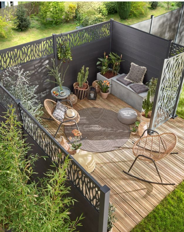 Castorama Inspiration Decoration Ideedeco Amenagement Terrasse Und Balkon Small Backyard Landscaping Outdoor Gardens Design Backyard Landscaping