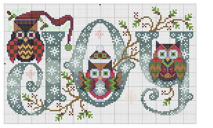 jewelry for cheap prices Cross stitch joy owls