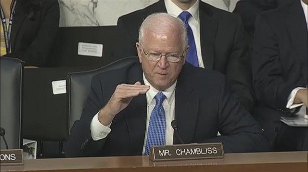 """Chambliss blames military rapes on 'the hormone level created by nature.' - He said, """"The young folks coming in to each of your services are anywhere from 17 to 22 or 23,""""  """"Gee-whiz, the hormone level created by nature sets in place the possibility for these types of things to occur.""""  --  Seriously, another Repuke who justifies rape..why am I not surprised. Repuke voters, why do you vote this kind of trash into office?"""