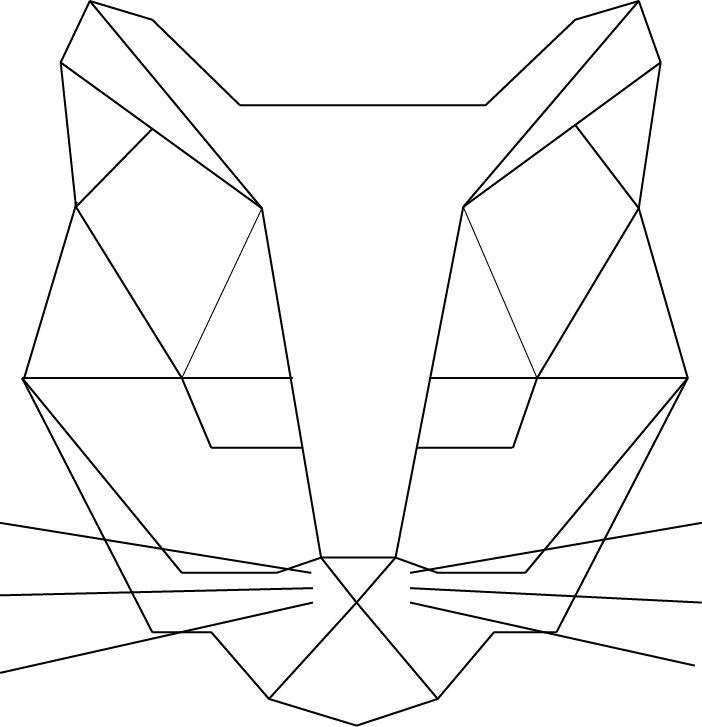 cat geometric made illustrator