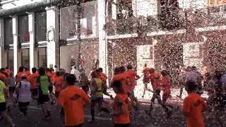 """2ª Corrida Montepio by pjump: Audiovisual """"Foi um dia dedicado ao desporto, à saúde e à solidariedade que juntou, nas ruas da Baixa de Lisboa, mais de 10 000 pessoas que responderam ao apelo do Montepio e em conjunto reuniram 55 mil euros para o projeto da Cáritas, """"Prioridade às Crianças"""", que tem o objetivo de combater a pobreza infantil.""""   #pjump"""