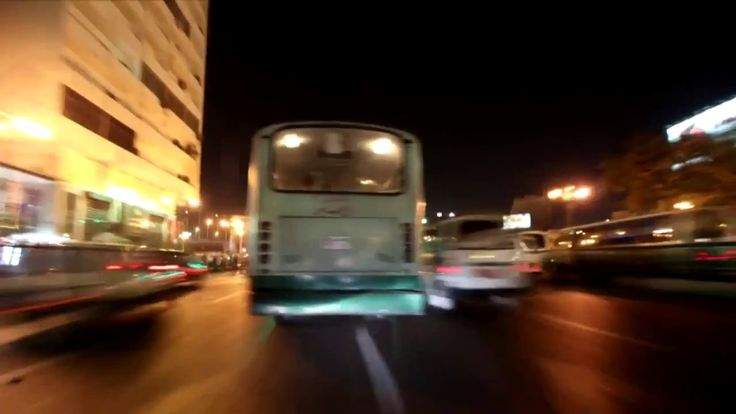 The streets of Egypt at night time lapse .. HD free stock footage .. ( 5 )
