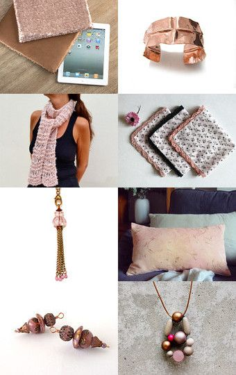 Copper and Pink by Tatin on Etsy--Pinned with TreasuryPin.com