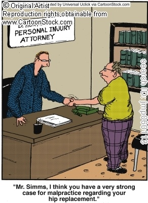 Hip Replacement Cartoons and Comics | Joint replacement ...