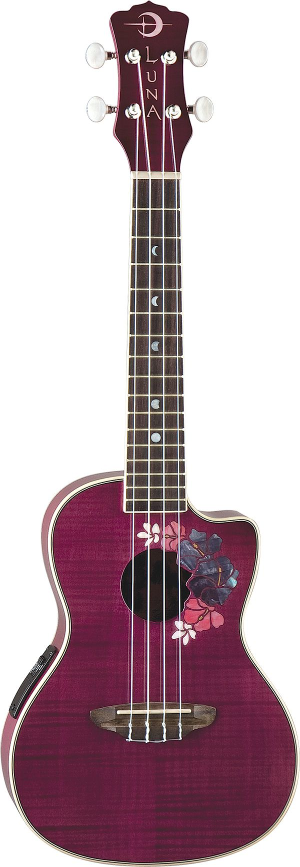 Luna Floral Uke For the Love of Luna Guitars... #lunapinandwin #lunatribe #lunaguitars