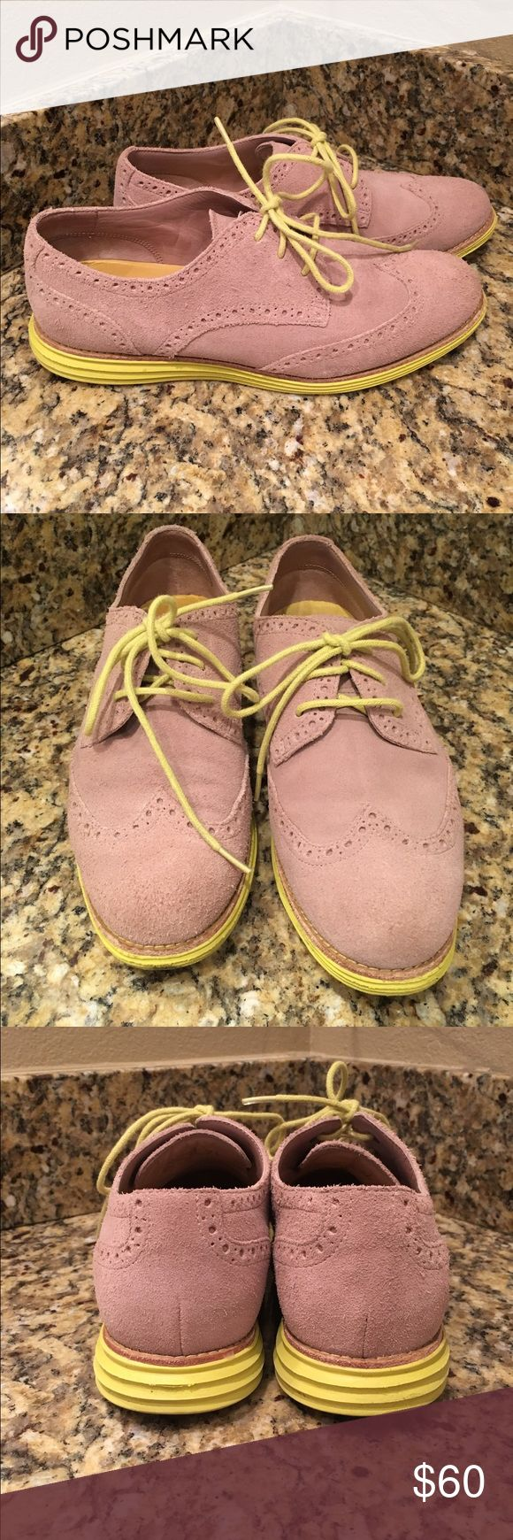 Cole Haan Lunargrand Suede Oxford Shoes Super cute suede oxford Lunargrand Cole-Haan shoes.  In great condition- have only worn a handful of times.  Size 7 1/2. I don't have the original box- but stored in a clear plastic shoe box while not worn. Cole Haan Shoes Flats & Loafers