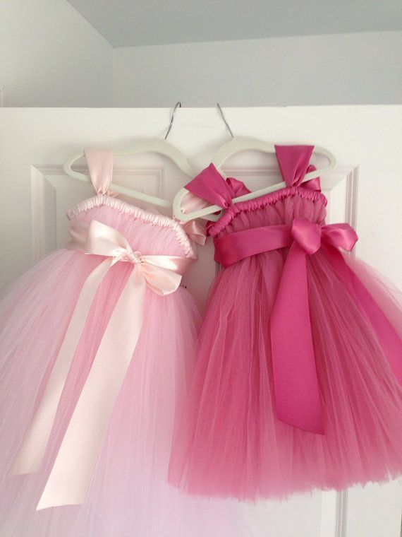 Pale pink tutu dress NB12 girls by HadandHarps on Etsy