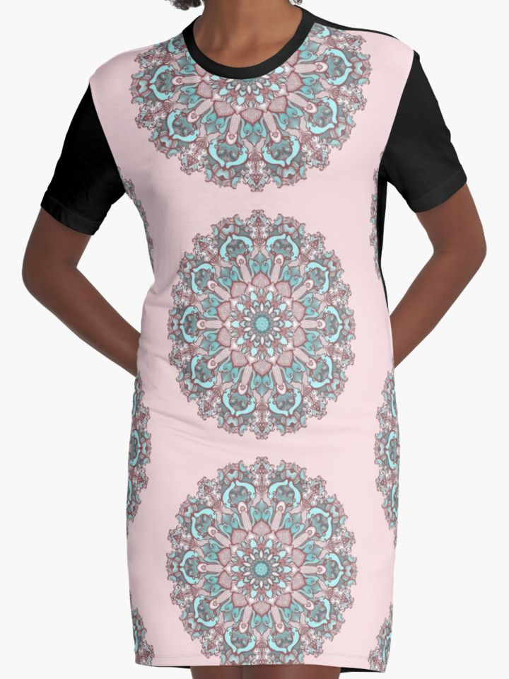 mandala#31 on pink background by kanvisstyle #redbubble #mandala #lineart #Fineline #pattern #kanvisstyle