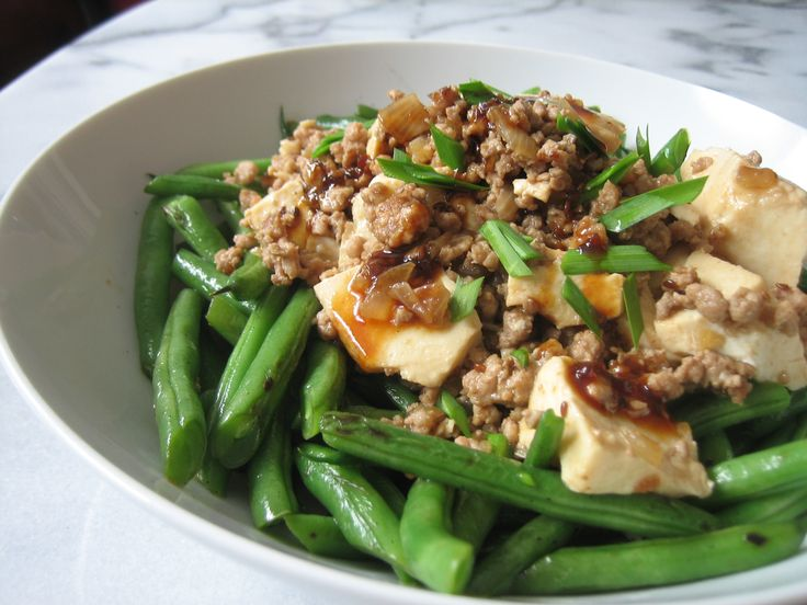 Sesame Soy Tofu and Beans