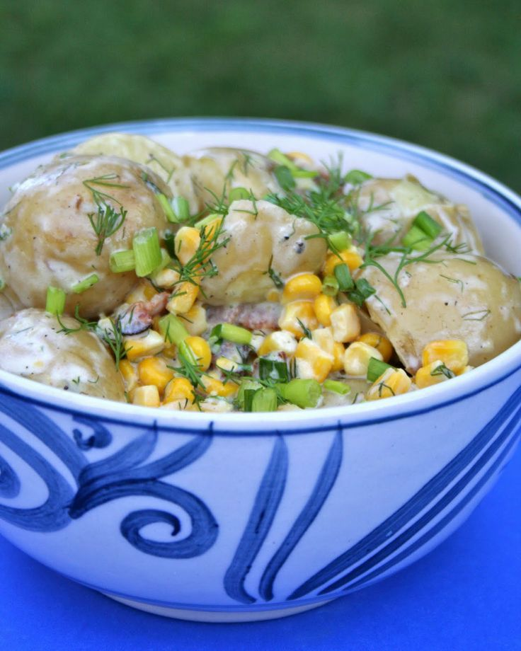 Earl's Warm Potato Salad with Bacon and Roasted Corn