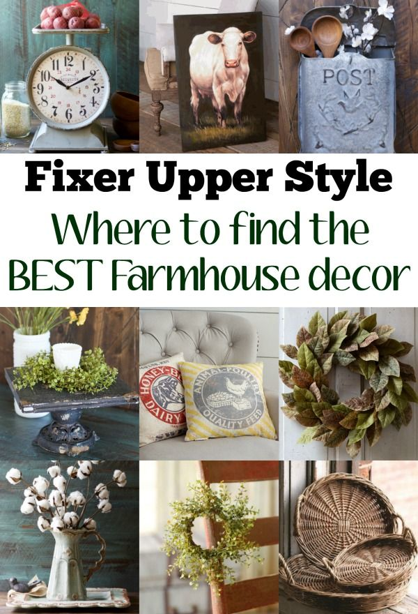 Seriously the BEST Farmhouse Decor! Cotton, Magnolia Wreaths, Kitchen Scales, Cow Prints! I want it all! Just like the stuff you see on Fixer Upper!