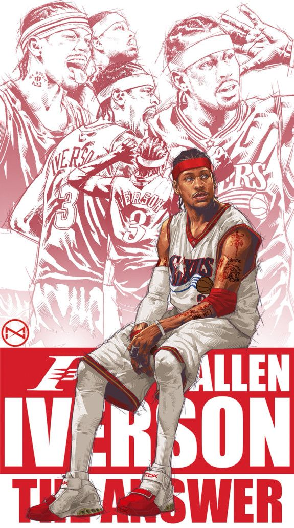 Allen Iverson Career Montage Illustration