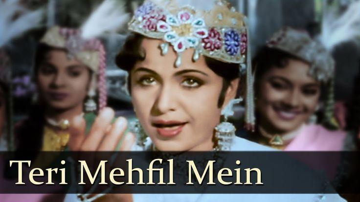 Teri Mehfil Mein - Qawwali - Madhubala - Mughal-E-Azam - Lata - Shamshad... Movie: Mughal-E-Azam Music Director: Naushad Singers: Lata Mangeshkar Director: K Asif