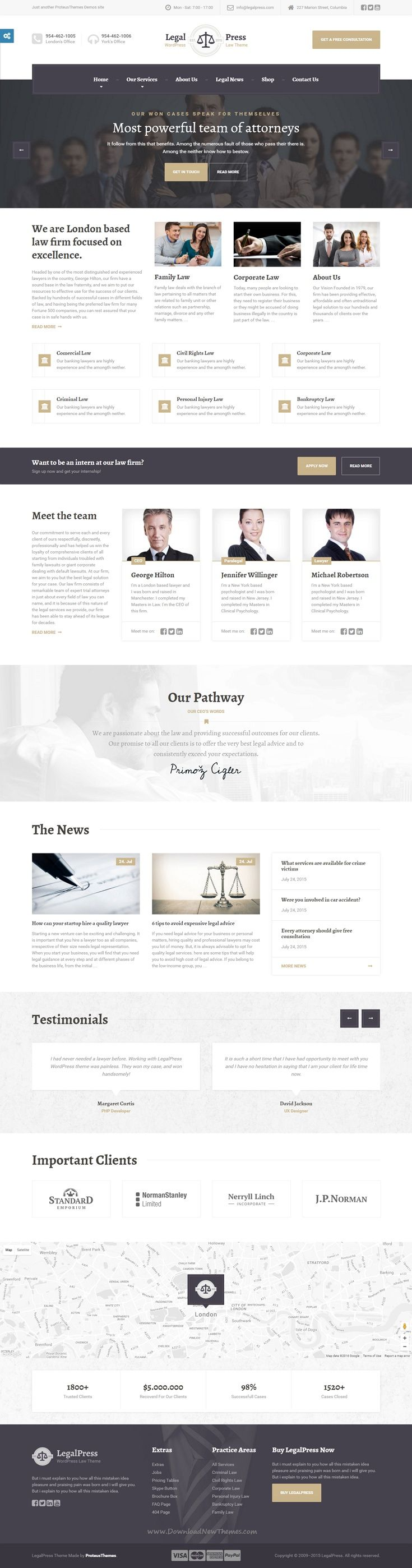 LegalPress, the best premium Bootstrap HTML template for lawyers, law firms, legal offices, attorneys, #solicitors, barristers, advisers, #consultants, and financial firms #website.