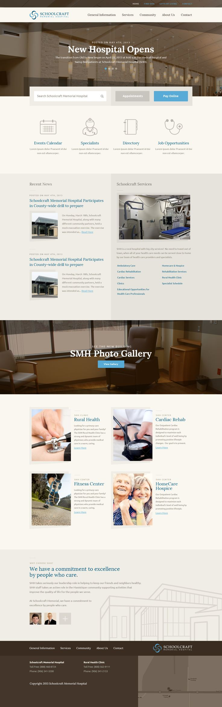 Schoolcraft Hospital #concept #website #web #hospital #business