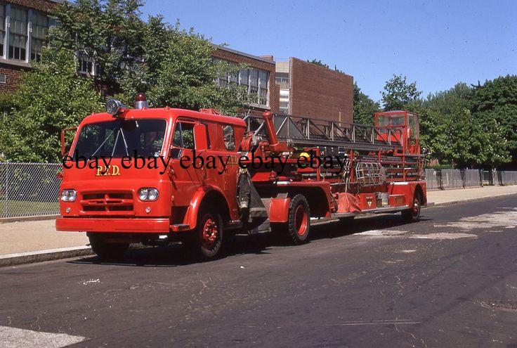 Fire Apparatus Slide - Philadelphia PA - 1963 International American LaFrance