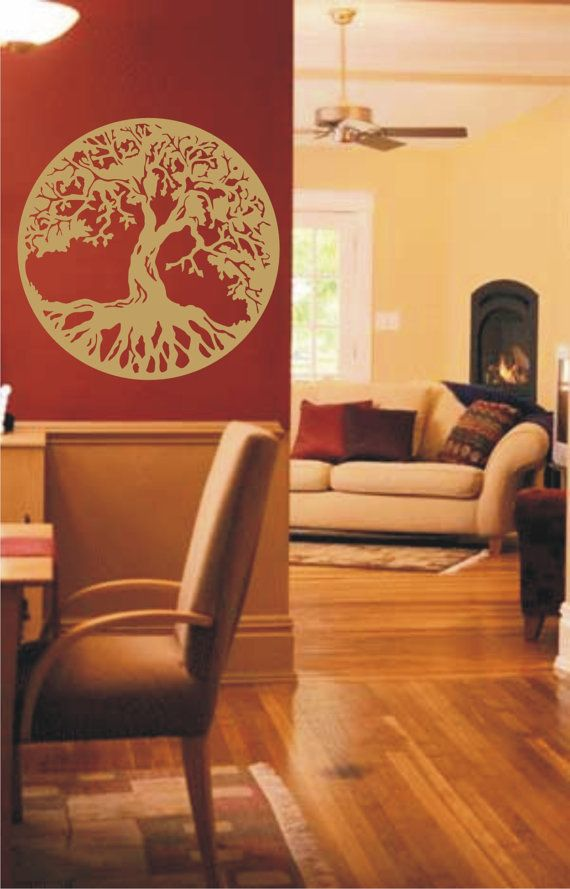 GOLD Tree Of Life Vinyl Decal, Wall Sticker, Wall Tattoo on Etsy, $20.00