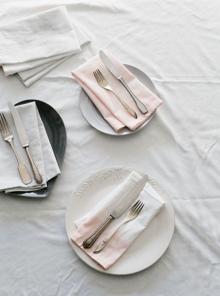 DIY // Dyed napkins