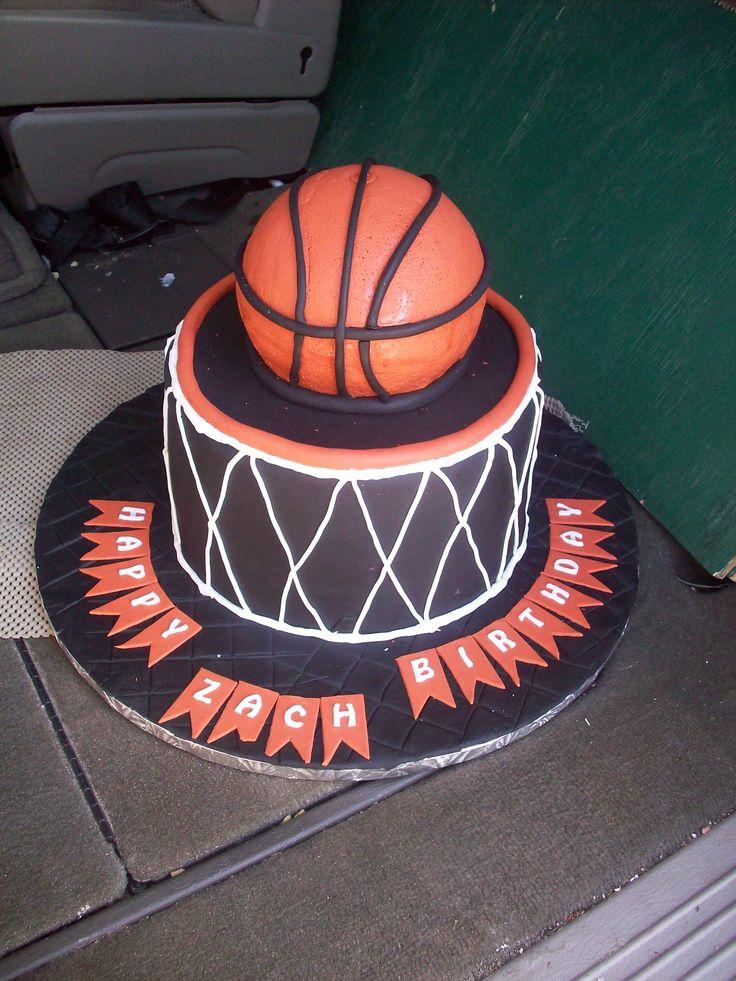 Basketball Birthday Cake Cakes Cupcakes Cake