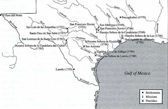 spanish settlements in texas The origin of texas county government can be found in municipality, the local unit of government under spanish and mexican rule the municipalities were large areas embracing one or more settlements and the surrounding rural territory.
