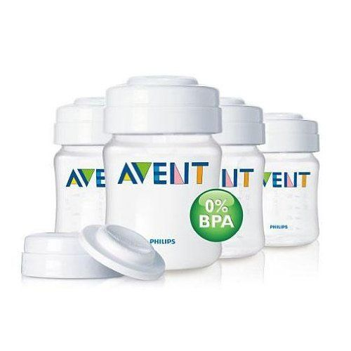 Philips AVENT 4 Ounce BPA Free Breast Milk Storage Set, Clear, 4-Pack by Philips AVENT, http://www.amazon.com/dp/B003FOAA2G/ref=cm_sw_r_pi_dp_j9rMrb19KR61Y