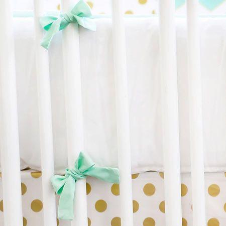 mint green tie & white bumper: Bellini Baby and Teen Furniture   Designer Cribs, Kids Furniture Stores