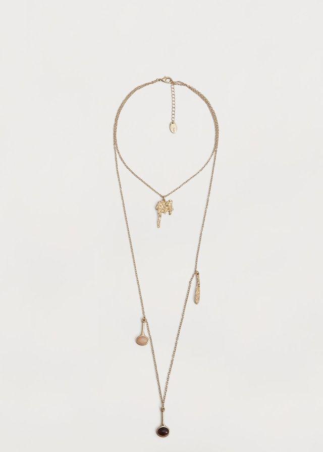 Ожерелье из цепочек с кристаллами