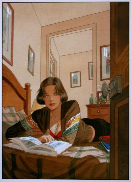 Cécile Allongée by Jean-Pierre Gibrat