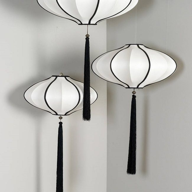 Bedroom Office Ideas Chinese Lantern Pendants