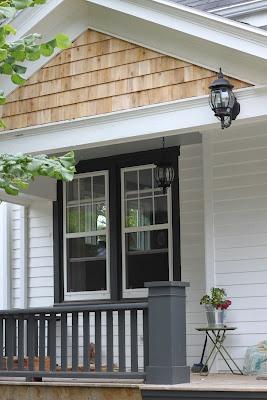 Gray Porch Ballisters The Cedar Peak Black Around The