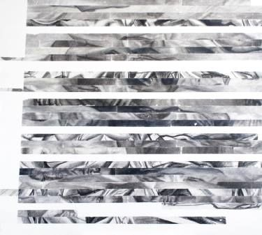 TRANSMOGRAPHY 2, http://www.saatchiart.com/art/Painting-TRANSMOGRAPHY-2/43191/2640425/view, #transfer #charcoal #lines #horizontal #drawing #painting
