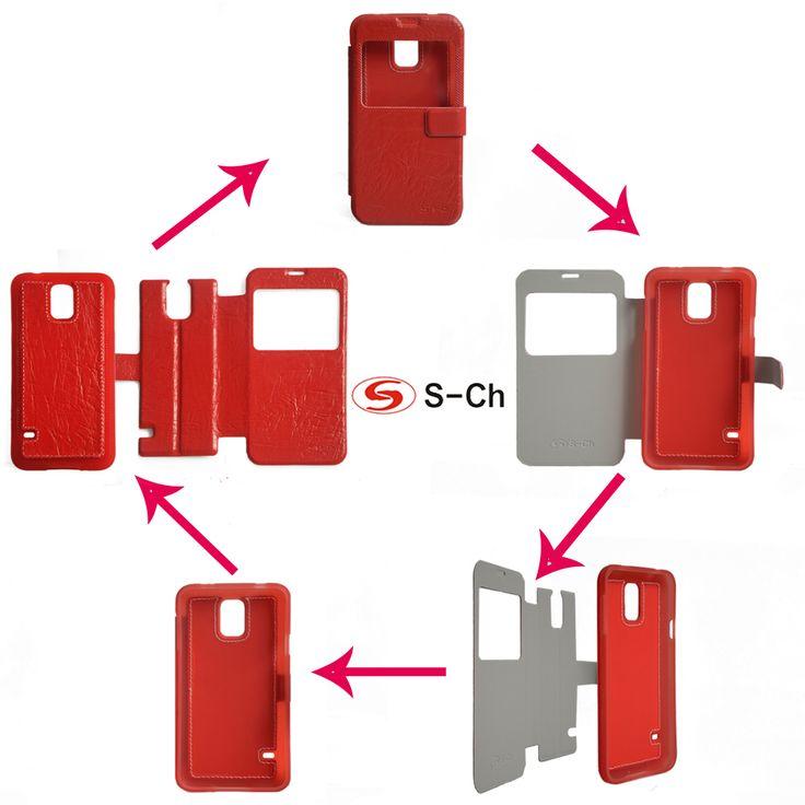 Чехол для Samsung Galaxy S5 i9600, для Galaxy S5 i9600 S 2-сн 2на1 магнит стойка роскошь улучшенный полиуретан кожа + тпу Smart перевёрнутый аксессуары чехол